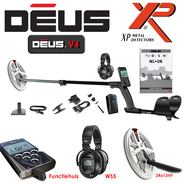 XP Deus Huis 24x13HF WS5 Wireless Metaaldetector
