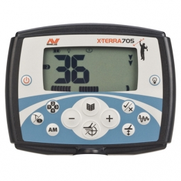 Display van Minelab X-Terra 705 Metaaldetector
