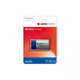 Batterij 9V Alkaline High Power Agfa b1pc